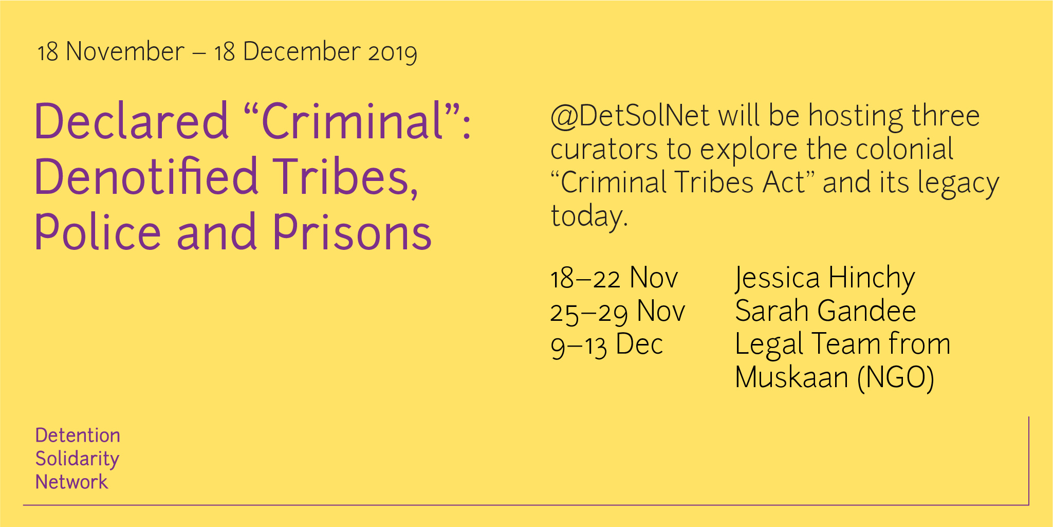 Declared Criminal: Denotified Tribes, Police and Prisons – Twitter Curations
