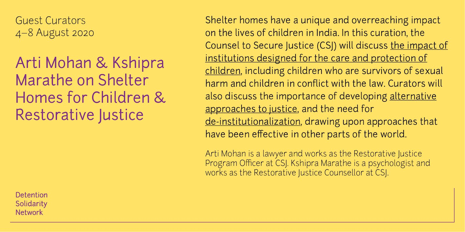Shelter Homes for Children and Restorative Justice – Twitter Curation